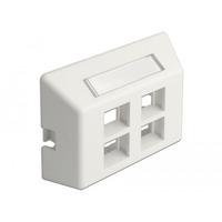 DeLOCK Keystone Outlet 4 Port for furniture installation - Blanc
