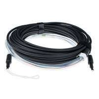 ACT 160 meter Multimode 50/125 OM3 indoor/outdoor kabel 4 voudig met LC connectoren Fiber optic kabel - Aqua-kleur