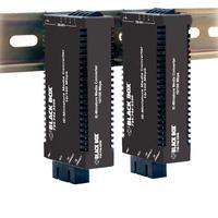 Black Box Industrial MultiPower Media Converter, 10-/100-Mbps Copper to 100-Mbps Duplex Fiber, Multimode .....