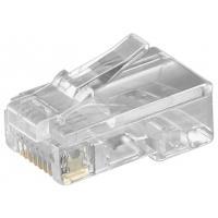 Goobay 50252, RJ45 Connecteur de câble - Transparent