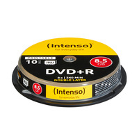 Intenso 1x10 DVD+R 8.5GB 8x Double Layer printable DVD vierge