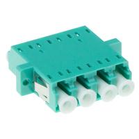 ACT Fiber optic LC-LC quad adapter OM3/OM4 - Cyan