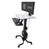 Ergotron WorkFit-C, Dual Sit-Stand Multimedia karren & stands - Zwart,Grijs