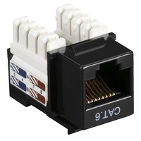 Black Box CAT6 Keystone Jack 10pk - Zwart