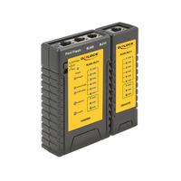 DeLOCK Cable Tester RJ45 / RJ12 + Portfinder Cable network tester - Zwart