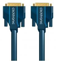 ClickTronic 3m DVI-D Connection - Bleu