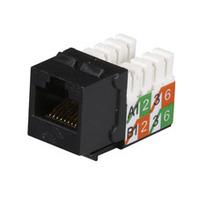 Black Box Prise CAT5e GigaBase2 - Noir