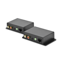 Digitus Cat 5 Audio Extender Extension up to 600m, local remote unit AV extenders - Zwart