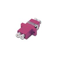 Digitus FO coupler, duplex, LC to LC, MM, violet, OM4 ceramic sleeve, polymer housing, incl. screws .....