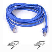 Belkin Cable patch CAT5 RJ45 snagless 1m blue Netwerkkabel - Blauw