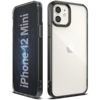 Ringke Fusion Backcover iPhone 12 Mini - Zwart - Zwart / Black