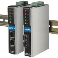 Moxa 1x RS-232/422/485, 2x 100BaseF(X) Single-Mode SC, IP30, 0 - 55°C Seriële server