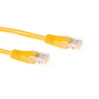 ACT Gele 2 meter UTP CAT6 patchkabel met RJ45 connectoren Netwerkkabel - Geel