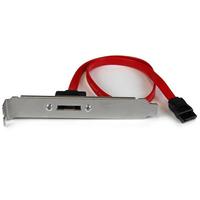 StarTech.com 45 cm 1-poorts SATA naar eSATA plaatadapter ATA kabel - Zwart,Rood,Zilver