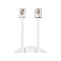 Sandberg Telephone RJ11-RJ11 10m Telefoon kabel - Wit