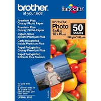 Brother BP71GP50 Premium Glossy Photo Paper Fotopapier - Wit