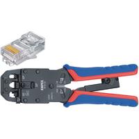 Knipex Krimptang voor Western-stekkers, RJ10/11/12/45, 7.65/9.65/11.68 mm Krimp-, knip- en striptang voor kabels .....