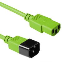 ACT C13 - C14, 1.20m Electriciteitssnoer - Groen