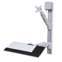 Value Wallmount Workstation, Pneumatic Monitorarm