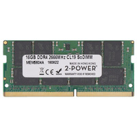2-Power 16GB DDR4 2666MHz CL19 SoDIMM Memory Mémoire RAM