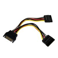 StarTech.com Adaptateur de câble répartiteur d'alimentation en YSATA 15cm - M/F - Noir
