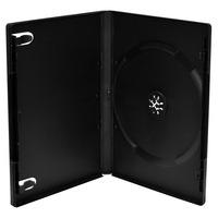 MediaRange DVD Case for 1 disc, 14mm, machine packing grade, black - Noir