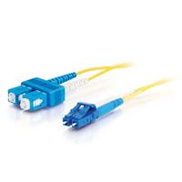 C2G 1m LC-SC 9/125 OS1 Duplex Singlemode PVC Fibre Optic Cable (LSZH) - Yellow Fiber optic kabel - Geel