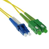 ACT 20m LSZH Singlemode 9/125 OS2 glasvezel patchkabel duplexmet SC/APC en LC/PC connectoren Fiber optic kabel - Geel
