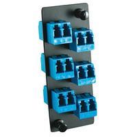Molex 6-Pak LC Adapter Plate, SM Adaptateurs de fibres optiques - Noir,Bleu