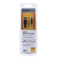 Belkin Kabel USB 2.0 [1x USB 2.0 stekker A - 1x USB 2.0 stekker mini-B] 1.8 m Zwart USB kabel