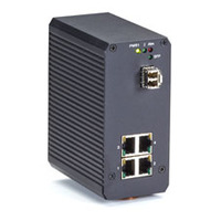 Black Box RJ-45 x 4, 10/100/1000 Mbps, IP31, 1 MB, Flow Control, Store and forward Switch - Noir