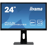 "Iiyama ProLite B2483HSU-W5, 24"", TN LED, 1920x1080, 16:9, VGA, HDMI, DP, USB, HDCP, 3.5mm, RMS 2x 1W, ....."