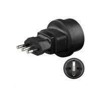 Microconnect Universal adapter Italy/Schuko Fiche secteur / adaptateur - Noir
