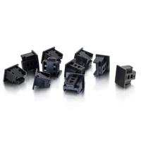 C2G LOT DE 10 CAPUCHONS ANTI-POUSSIÈRE RJ45 Serre-câble - Noir