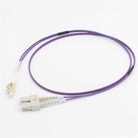 C2G 1M LC/SC OM4 LSZH VEZELPATCH - PAARS Fiber optic kabel - Violet