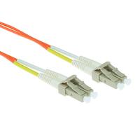 ACT 2m LSZHmultimode 62.5/125 OM1 glasvezel patchkabel duplexmet LC connectoren Fiber optic kabel - Oranje