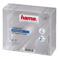 Hama Boîtier CD standard double, lot de 5 - Transparent