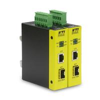 KTI Networks KCD-400 Netwerk media converters - Zwart, Geel