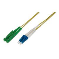 ASSMANN Electronic Fiber Optic Patch Cord, E2000 (APC) to LC (PC) Singlemode 09/125 µ, Duplex, .....