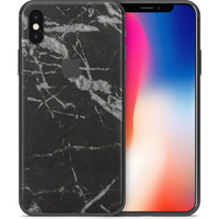 Dskinz Smartphone Back Skin for Apple iPhone X Black Marble