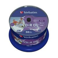 Verbatim DVD-R DL 8x, 8.5GB, 50pk Spindle DVD vierge