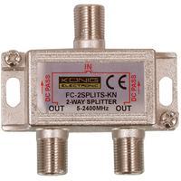König Répartiteur F, 5 - 2250 MHz, avec passage de courant DC satellite Répartiteur de câbles