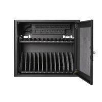 V7 Charging Station for 12 Mobile Computers - Secure, Store and Charge Chromebooks, Notebooks and Tablets - UK - Zwart