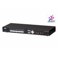 Aten Commutateur KVMP™ multivue DVI USB à 4 ports Commutateur KVM - Noir