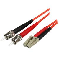 StarTech.com Câble Réseau - Jarretière Fibre Optique Duplex Multimode 50/125 OM2 LC - ST - LSZH - 1 m .....