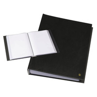 Rillstab A4, 100 pcs, generfd kunststof - Zwart