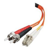 C2G 2m LC-ST 50/125 OM2 Duplex Multimode PVC Fibre Optic Cable (LSZH) - Orange Fiber optic kabel - Oranje