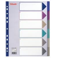 Esselte Plastic tab, A4 Intercalaire