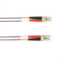 Black Box Câble de raccordement OM3 multimode coloré - LSZH Duplex Câble de fibre optique - Violet