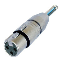 Neutrik 3p XLR NA2FP adapter Kabel adapter - Zilver